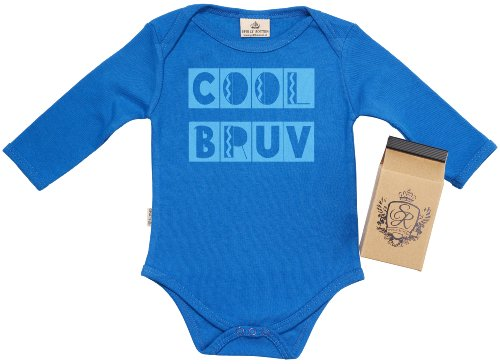 Sr - Cool Bruv Baby Grow 100% Organic In Milk Carton 12-18M Blue front-861793