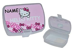 Brotdose Hello Kitty - incl. Name - Brotbüchse / Lunchbox - Küche Essen für Mädchen Kinder Vesperdose - Frühstücksbox Brotzeitdose