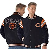 Chicago Bears Suede Jacket (Blue, 5XL) at Amazon.com