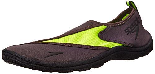 Speedo Men's Surfwalker Pro 2.0 Water Shoe, Grey/Safety Yell