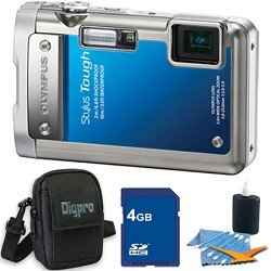 Olympus Stylus Tough 8010 Waterproof Shockproof Blue Digital Camera 14MP, 28mm 5X Optical Zoom, 2.7