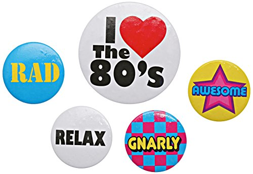 80s Button Badge Pack of 5