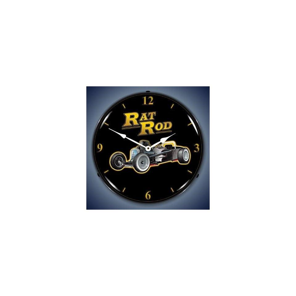 Rat Rod Lighted Wall Clock on PopScreen