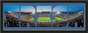 Personalize Your Name With Framed Notre Dame Fighting Irish Notre Dame Stadium Large... by Art and More, Davenport, IA