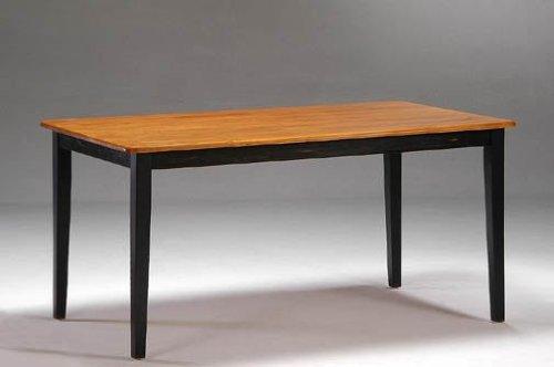 "Solid Hardwood Shaker Dining Table (Black Paint/Oak Finish) (29""H x 36""W x 60""D)"