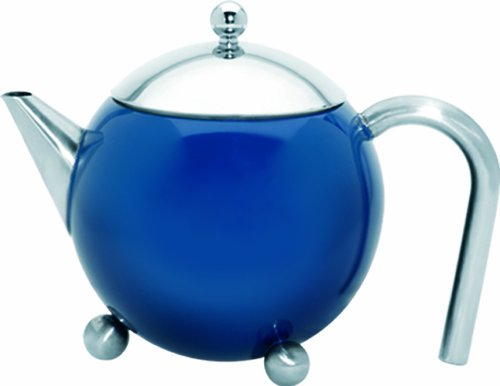 G&H Tea Services Painted Lady 27-Ounceteapot, Blue