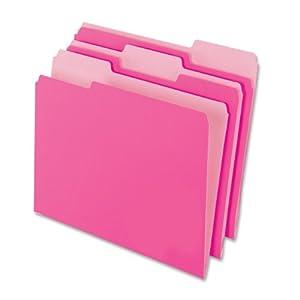 Amazon.com : Pendaflex Two-Tone Color File Folders, Letter Size, 1/3