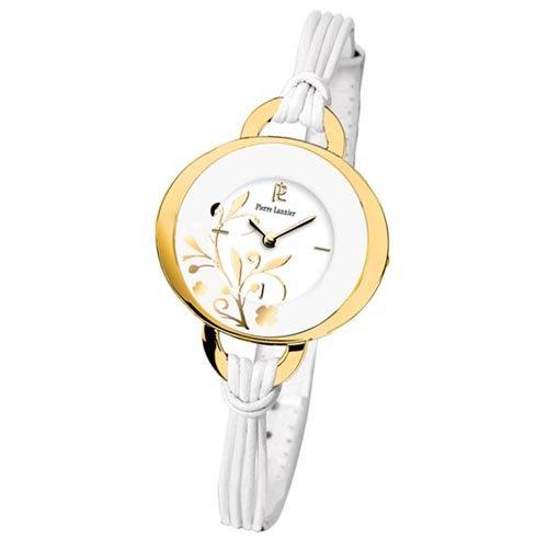 Pierre Lannier - 041J500 - Montre Femme - Quartz Analogique - Cadran Blanc - Bracelet Cuir Blanc