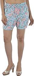HotShot Women's Polyester Relaxed Shorts (RH002, Large)