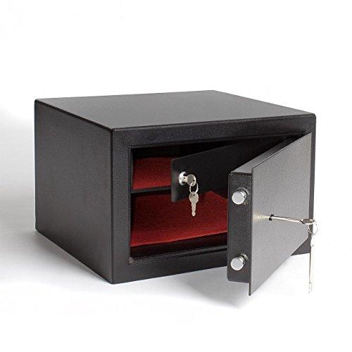 Homelux FS38B Möbeltresor der Sicherheitsstufe B mit extra Innentresor und Außenmaß (H x B x T): 25,5 x 39,5 x 38 cm