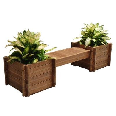 TherMod Modula Wood Planter Bench 82 in. x 18 in. (4 In 1 Modular Raised Bed compare prices)