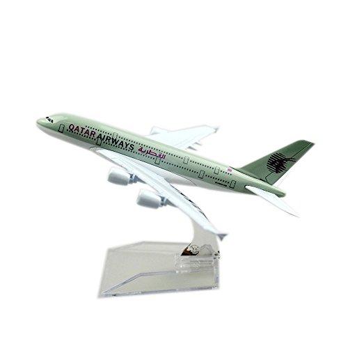 Qatar Airways Company Q.C.S.C. A380 Metal Souvenir Model Airplane (Qatar Airways Model compare prices)