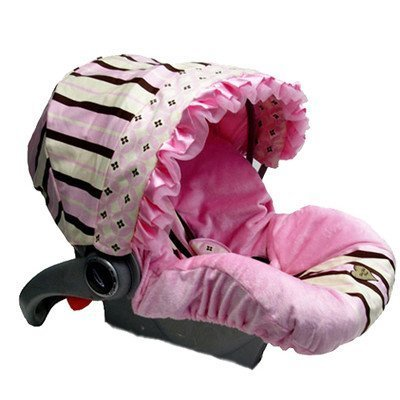 Infant Car Seat Cover with Canopy Color: Pixie Stix