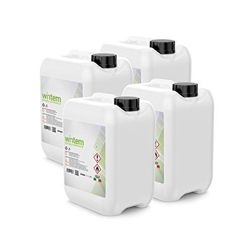 Combustibile Bioetanolo Certificato per Stufe Camini Riscaldamento Ecologico 1L 5L 10L 12L 20L - Wintem (20 Litri)