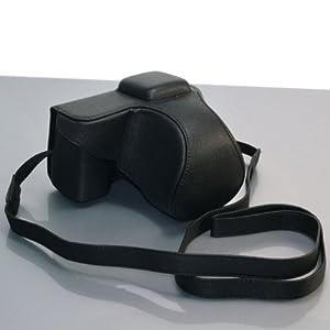 Black / PU Leather Camera Case for Sony NEX5 (1343-2)
