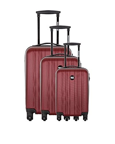 Bag Stone Set de 3 trolleys rígidos Boy Burdeos