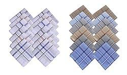 S4S 100% Cotton 12 Striped and 12 Multicolor Handkerchiefs