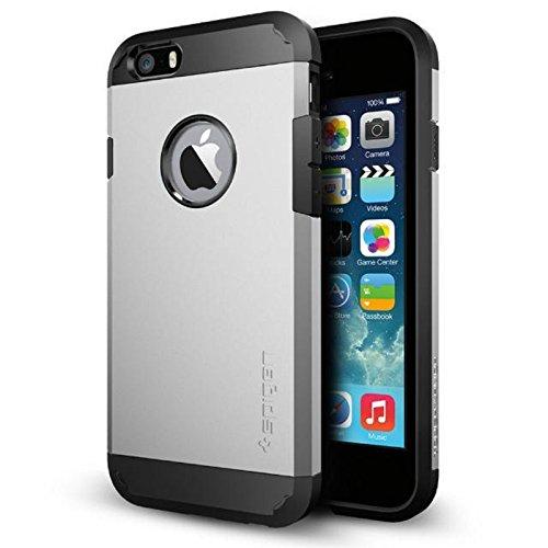 iPhone 6 ケース, Spigen®  [エアクッションテクノロジー] Apple iPhone 4.7 (2014) タフ・アーマー The New iPhone アイフォン6 (国内正規品) (サテン・シルバーSGP10971)