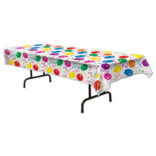 Beistle Balloon and Confetti Tablecover