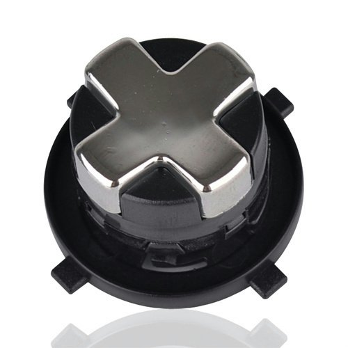Transforming D-Pad For New Version Of Xbox 360 Controller (Chrome Silver With Black Base)
