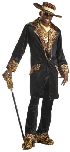 Supa Mac Daddy Costume - X-Large - Chest Size 44-46