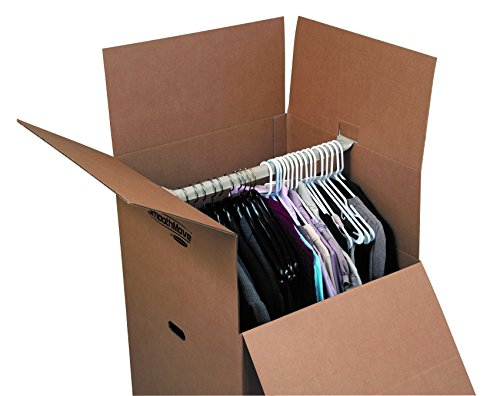 wardrobe moving box 24x24x40 pack3 clothes hanging handle. Black Bedroom Furniture Sets. Home Design Ideas