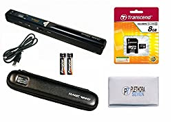VuPoint Solutions PDS-ST415-VP Handheld Magic Wand Portable Scanner with Protective Carrying Case, 8GB Micro SD Card, and OCR Software, JPG/PDF, 900DPI, Color/Mono, for Document, Photo, Magazine, Book