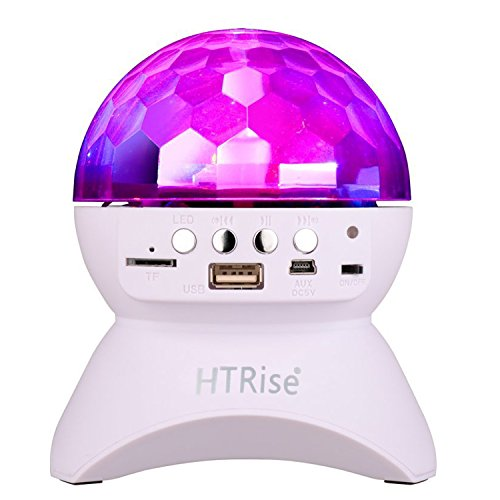 HTRise Bluetooth Speaker With Party Dance Light, Rotating LED Strobe Bulb Crystal Stage Light