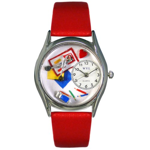 Whimsical Watches Women's S0410002 Scrapbook Red Leather Watch