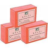 Khadi Mauri Ginger-Mango Soaps Pack Of 3 Ayurvedic Herbal Natural