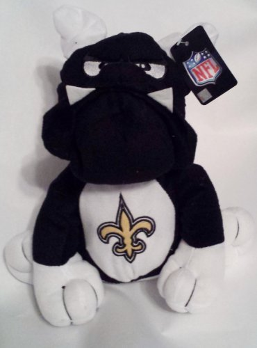 "NFL Football New Orleans Saints 10"" Plush Team Bulldog with Embroidered Logo"