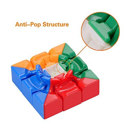 Newisland Cubo Mágico plástico Ecológico de velocidad; Colores Super durables y vívidos Stickerless Cubo Phoenix
