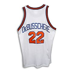 Dave DeBusschere New York Knicks Autographed Hand Signed White Throwback Jersey by Hall of Fame Memorabilia