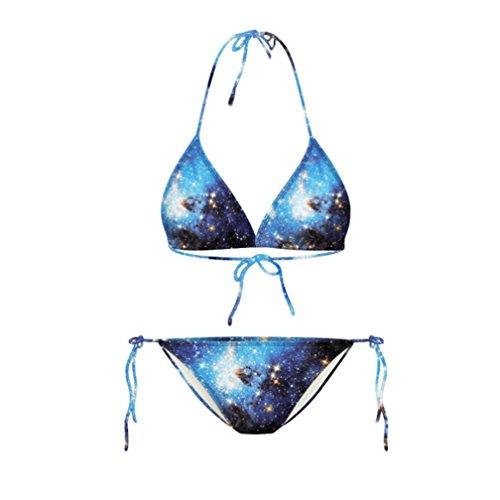 Galaxy Print Vintage Style Bikini