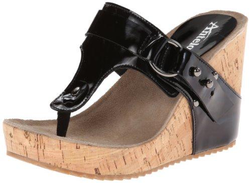Antelope Women's 725 Wedge Sandal,Black,40 EU/10 B US