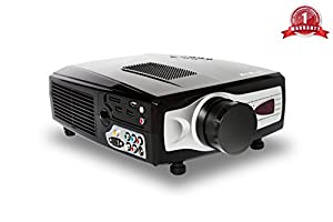 """KitMaster®HD Ready Projector For Game Consoles, TV, Blu Ray, DVD, PC, Laptop, Digi Box, Sky, Virgin, Media Player upto 120"""" Screen Size and Excellent + KitMaster® Hdmi Cable And Cleaning Cloth"""