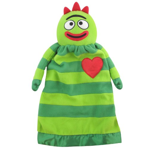 Yo Gabba Gabba Plush Brobee Lovie Security Blanket (Brobee-Green) - 1
