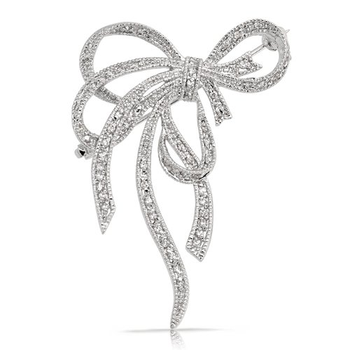 Bling Jewelry Pave Cubic Zirconia Silver Tone