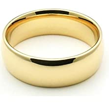 buy 14K Yellow Gold 6Mm Comfort Fit Dome Wedding Band Super Heavy Weight - Size 6.25