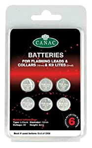 Canac Batteries For Safety Collars 6 Per Card