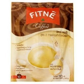 3X Fitne Instant Coffee Mixed Collagen With Vitamin C 15G. Pack 10 Sachets. Free Made From Thailand