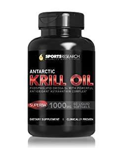 #1 Pure Antarctic Krill Oil with Astaxanthin; Double-Strength with 1000mg of Superba® Krill Oil per liquid softgel; Contains the Highest levels of Omega-3s, Phospholipids and Astaxanthin per softgel; 60 Liquid Softgels, 2 month Supply!