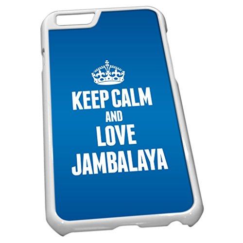 Blanc Coque pour iPhone 61186Bleu Keep Calm and Love Jambalaya