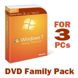 Microsoft Windows 7 Home Premium Upgrade Family Pack (3-User)