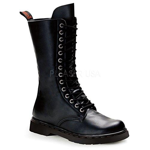 Demonia Unisex Defiant 300 Combat Boots, Black Vegan Leather, 9 M