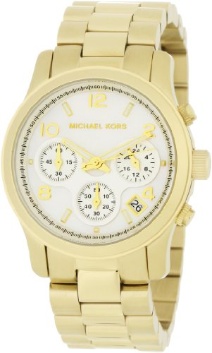 Michael Kors Women's MK5305 Gold Runway Mother-Of-Pearl Dial Watch