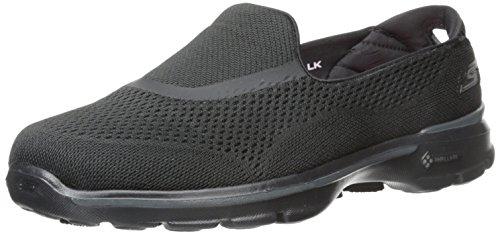 Skechers Performance Women's Go Walk 3 Strike Walking Slip-On Shoe, Black, 6.5 M US