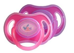 Vital Baby 49705 - Chupete suave de silicona (2 unidades), color rosa y violeta