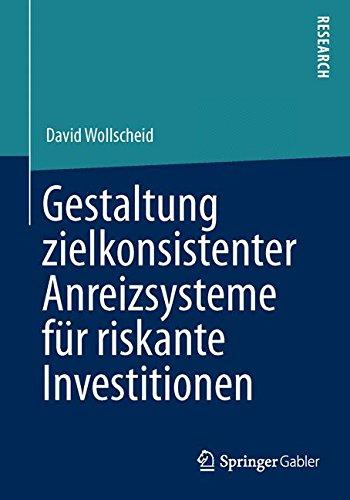 Gestaltung zielkonsistenter Anreizsysteme für riskante Investitionen (German Edition)