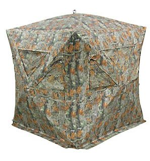 The Eclipse Ground Turkey Hunting Blind, Matrix - with Carrying Case, Bow Hanger and Bow/Rifle Friendly Windows